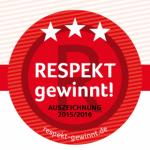 Respekt gewinnt! Auszeichnung 2015/16